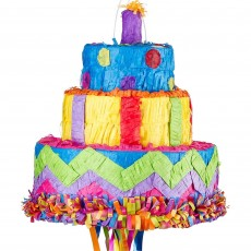 Happy Birthday Birthday Cake Pinata