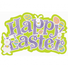 Easter Large Glittered Cutout