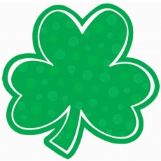St Patrick's day Shamrock with Dots Cutout 20cm