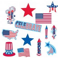 USA Patriotic Mega Value Cutouts