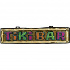 Hawaiian Luau Summer Luau Tiki Bar Formed Sign Banner