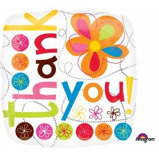 Thank You Standard XL Colorful Flowers Shaped Balloon