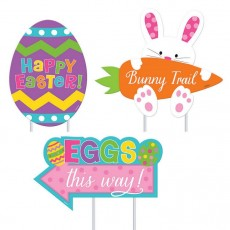 Easter Assorted Sidewalk Yard Signs Pack of 3