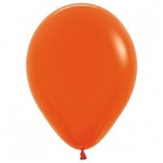Teardrop Fashion Orange Latex Balloons 12cm Pack of 50