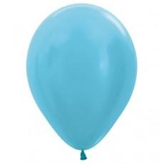 Blue Satin Pearl Caribbean  Latex Balloons