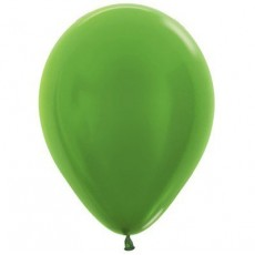 Green Metallic Lime  Latex Balloons