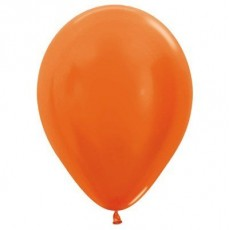 Orange Metallic  Latex Balloons