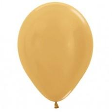 Gold Metallic  Latex Balloons