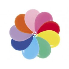 Fashion Multi Coloured Latex Balloons 45cm Pack of 6