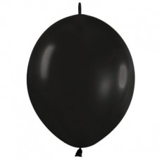 Fashion Black Link O Loon Latex Balloons 15cm Pack of 50