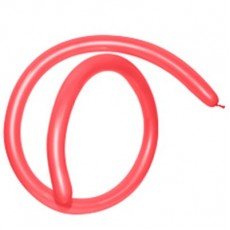 Fashion Red 160T Modelling Latex Balloons 2.5cm x 150cm Pack of 50