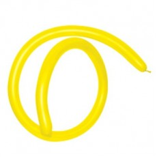 Fashion Yellow 160T Modelling Latex Balloons 2.5cm x 150cm Pack of 50