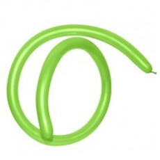 Fashion Lime Green 160T Modelling Latex Balloons 2.5cm x 150cm Pack of 50