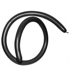Fashion Black 160T Modelling Latex Balloons 2.5cm x 150cm Pack of 50