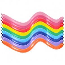 Multi Colour Fashion ed 360T Modelling Latex Balloons