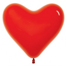 Heart Fashion Red Love Latex Balloons 28cm Pack of 12