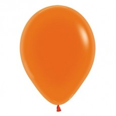 Orange Crystal Jewel Latex Balloons