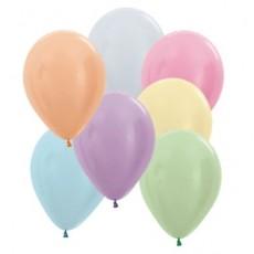 Multi Colour Satin Pearl ed  Latex Balloons