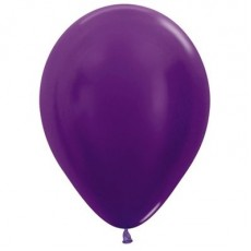 Purple Metallic  Violet  Latex Balloons