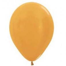 Gold Metallic Yellow  Latex Balloons