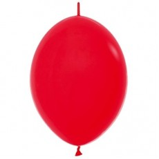 Fashion Red Link O Loon Latex Balloons 28cm Pack of 25
