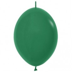 Fashion Forest Green Link O Loon Latex Balloons 28cm Pack of 25