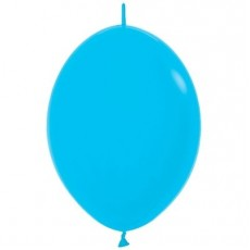 Fashion Blue Link O Loon Latex Balloons 28cm Pack of 25