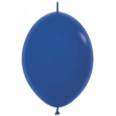Fashion Royal Blue Link O Loon Latex Balloons 28cm Pack of 25