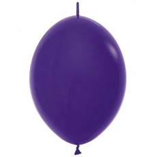 Fashion Purple Violet Link O Loon Latex Balloons 28cm Pack of 25