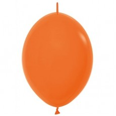Fashion Orange Link O Loon Latex Balloons 28cm Pack of 25