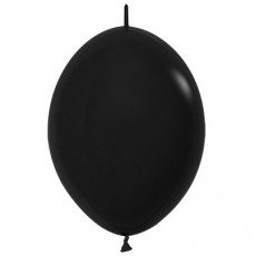 Fashion Black Link O Loon Latex Balloons 28cm Pack of 25