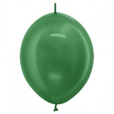 Green Metallic  Link O Loon Latex Balloons