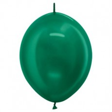 Green Metallic Forest  Link O Loon Latex Balloons
