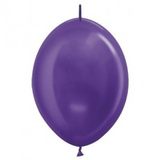 Purple Metallic  Violet  Link O Loon Latex Balloons