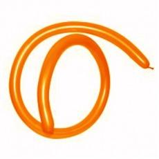 Orange Metallic 160T Modelling Latex Balloons