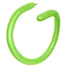 Fashion Lime Green 260T Modelling Latex Balloons 5cm x 150cm Pack of 100