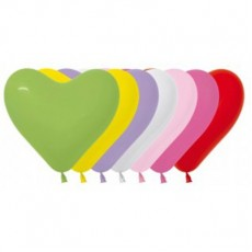 Heart Fashion White, Pink, Fuchsia & Red Love Latex Balloons 15cm Pack of 50