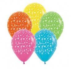 Hawaiian Multi Coloured Tropical Latex Balloons