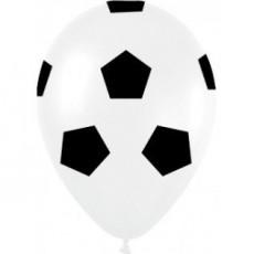 Soccer Black & White Balls Latex Balloons