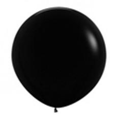 Fashion Black Latex Balloons 90cm Pack of 2