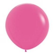 Round Fashion Fuchsia Magenta Latex Balloons 90cm Pack of 2