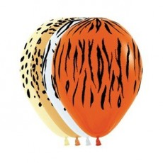 Jungle Animals Animal Print Latex Balloons