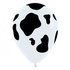 Cow Print Black & White  Latex Balloons