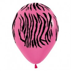 Birthday-licious Fuchsia Pink & Black Zebra Animal Print Bargain Corner