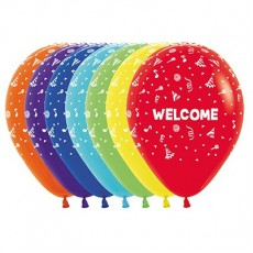 Welcome Fashion Multi Coloured  Latex Balloons