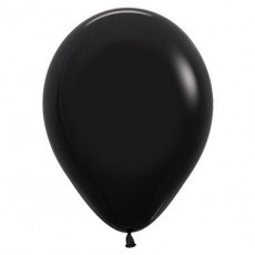 Teardrop Fashion Black Latex Balloons 30cm Pack of 25