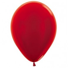 Red Metallic  Latex Balloons