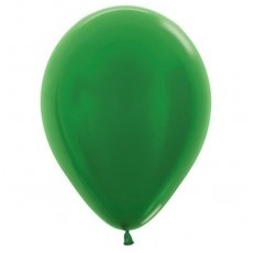 Green Metallic  Latex Balloons