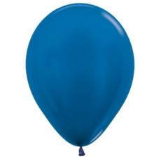 Blue Metallic  Latex Balloons