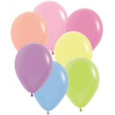 Multi Colour Neon ed  Latex Balloons